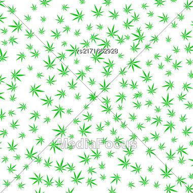 Green Cannabis Leaves Background. Green Marijuana Pattern Stock Photo