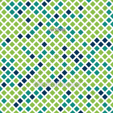 Green Checkered Texture Background Vector Illustration Stock Photo