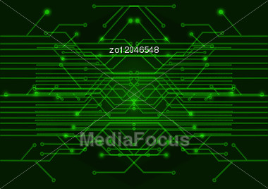 green circuit board on a black background stock image zo12046548