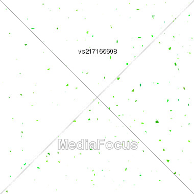 Green Confetti Isolated On White Background. Confetti Background Stock Photo