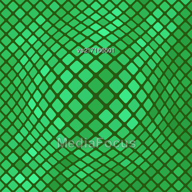 Green Diagonal Square Pattern. Abstract Green Square Background Stock Photo