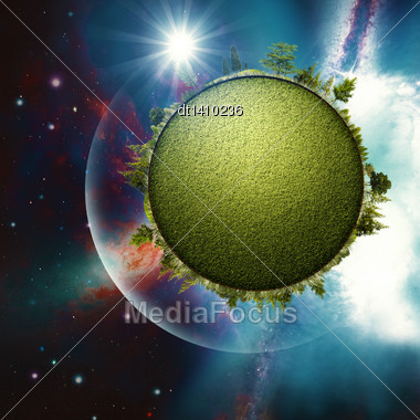 Green Planet. Abstract Environmental Backgrounds For Your Design Stock Photo