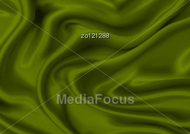 Green Silk Material Can Use As Fine Background Stock Photo