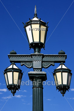 Green Street Lamp In Buenos Aires Argentina Stock Photo
