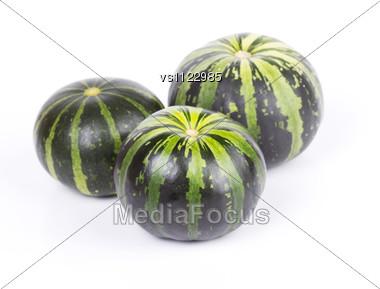 Green Striped Pumpkins Stock Photo