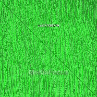Green Strokes Drawn Background. Grass Careless Sketch Stock Photo