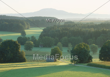 Green Valley - Bavaria, Germany Stock Photo
