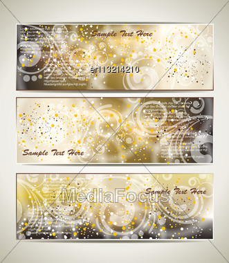 Greeting Cards With An Ice Pattern And Copy Space Stock Photo