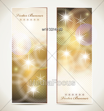 Greeting Cards With Stars And Copy Space Stock Photo