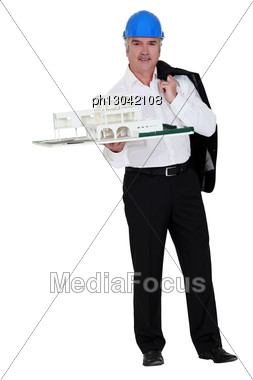 Grey-haired Property Developer Stock Photo