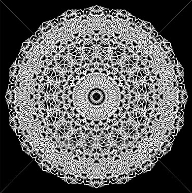 Grey Ornamental Line Pattern. Decorative Texture. Oriental Geometric Ornament Stock Photo