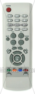 Grey Remote Control For TV Set Stock Photo