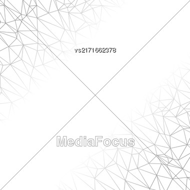 Grey Technology Background With Molecule Structure. Genetic And Chemical Compounds. Communication Concept. Space And Constellations Stock Photo