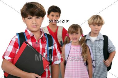 Group Of Schoolchildren Stock Photo