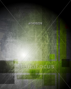 Grunge Abstract Technology Background. Vector Design Eps 10 Stock Photo