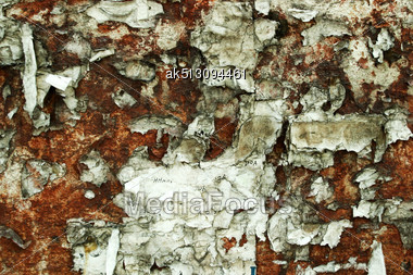 Grunge Background Of Metal Blade With Paper Stock Photo