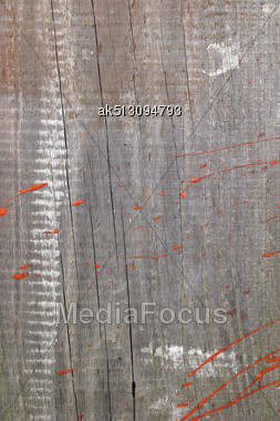 Grunge Cracked Board With Paint Stock Photo