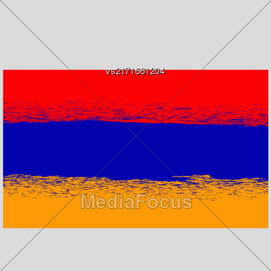Grunge Flag Of Armenia. Armenian Symbol Of Independence Stock Photo