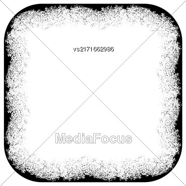 Grunge Frame Silhouette Isolated On White Background Stock Photo