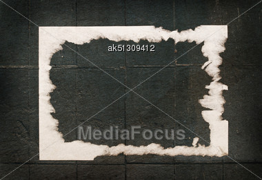 Grunge Paper Announcement Stock Photo
