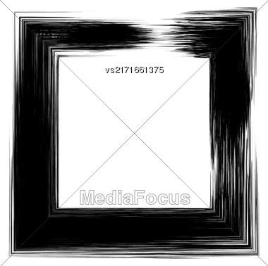 Grunge Square Frame Isolated On White Background Stock Photo