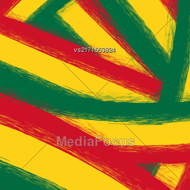 Grunge Yellow, Red, Green Background Painting Template Stock Photo