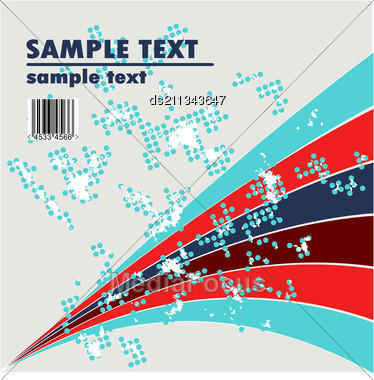 Grungy Vector Design Of Stripes With Barcode Stock Photo