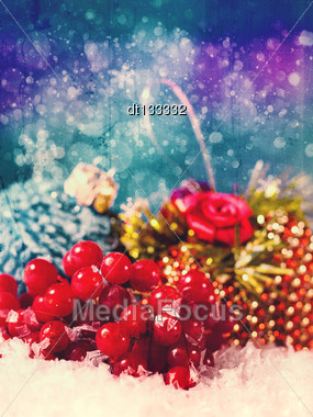 Grungy Xmas With Old Cardboard Texture For Your Design Stock Photo