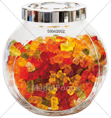 Stock Photo Gummi Bears in Glas Jar Clipart - Image 58042002 ...