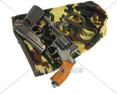 Guns And Mask Stock Photo