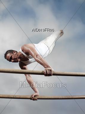 Gymnastic Parallel Bars Stock Photo