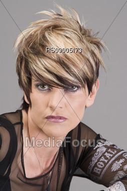 Hairstyle, Hairmodelphotography Stock Photo