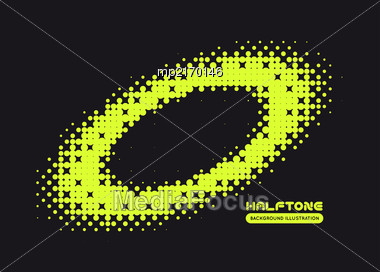 Halftone Illustration. Black And Green Vector Background Stock Photo