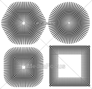 Halftone Pattern. Halftone Dots. Dots On White Background. Halftone Texture. Halftone Dots. Halftone Effect Stock Photo