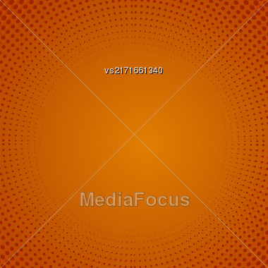 Halftone Pattern. Set Of Halftone Dots. Dots On Orange Background. Halftone Texture. Halftone Dots. Halftone Effect Stock Photo