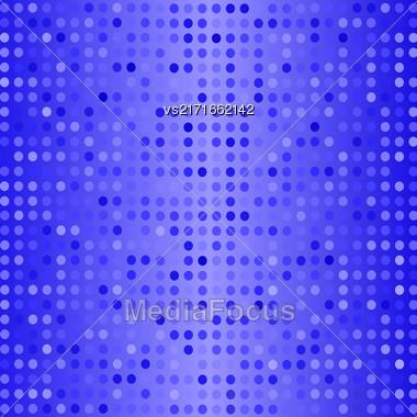 Halftone Pattern. Set Of Halftone Dots. Dots On Blue Background. Halftone Texture. Halftone Dots. Halftone Effect Stock Photo