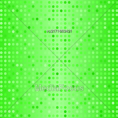 Halftone Pattern. Set Of Halftone Dots. Dots On Green Background. Halftone Texture. Halftone Dots. Halftone Effect Stock Photo