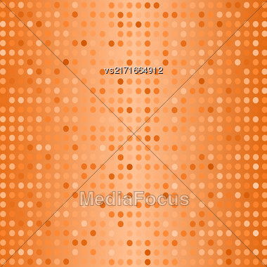 Halftone Pattern. Set Of Halftone Dots. Dots On Orange Background. Halftone Texture. Halftone Dots. Halftone Effect Stock Photo