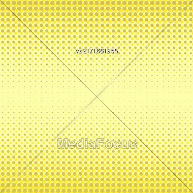 Halftone Patterns. Set Of Halftone Dots. Dots On Yellow Background. Halftone Texture. Halftone Dots. Halftone Effect Stock Photo