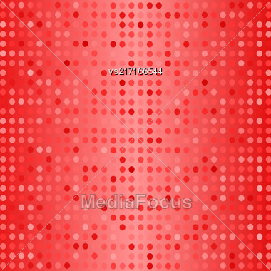 Halftone Patterns. Set Of Halftone Dots. Dots On Red Background. Halftone Texture. Halftone Dots. Halftone Effect Stock Photo