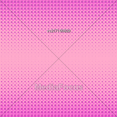 Halftone Patterns. Set Of Halftone Dots. Dots On Pink Background. Halftone Texture. Halftone Dots. Halftone Effect Stock Photo