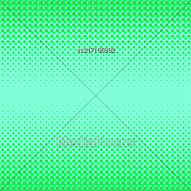 Halftone Patterns. Set Of Halftone Dots. Dots On Green Background. Halftone Texture. Halftone Dots. Halftone Effect Stock Photo