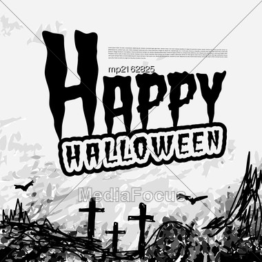 Halloween Background With Pumpkins Lantern. Vector Illustration Stock Photo