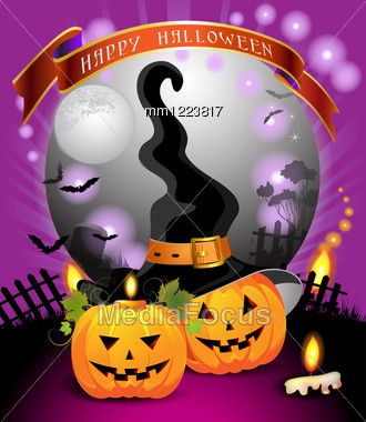 Halloween card design Stock Photo