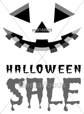 Halloween Sale Vector Background With Pumpkins Lantern Stock Photo