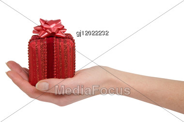 Hand And Gift Stock Photo