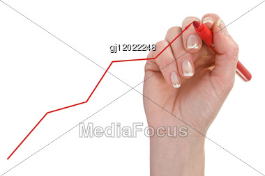 Hand Drawing Diagram Stock Photo