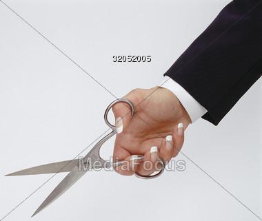 Stock Photo Hand Holding Scissors Clipart - Image 32052005 ...