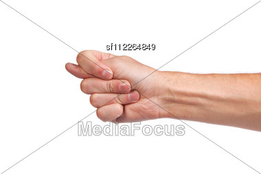 Hand Is Showing A Fig Sign Stock Photo