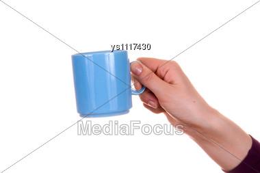 Hand With Mug Stock Photo